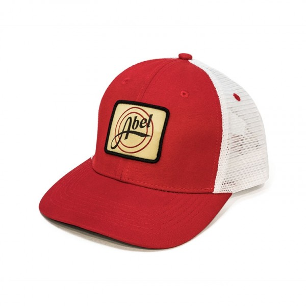 Retro Patch Trucker Hat - Red Front