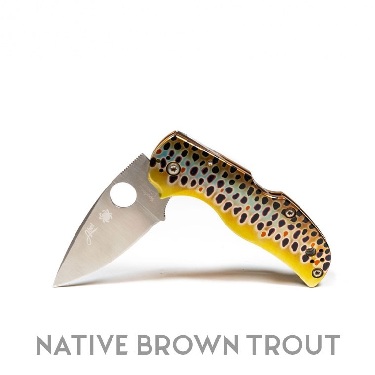 Native Brown Trout Spyderco Knife